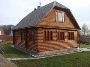 Строительство дома из свежеспиленного бревна