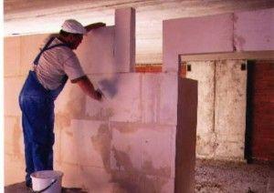 Спосіб установки блокових і полиалпановых перегородок