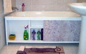 Декоративный экран на ванну