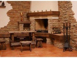 Укладка и декорирование камина