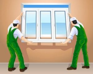 Монтаж пластикового окна ПВХ