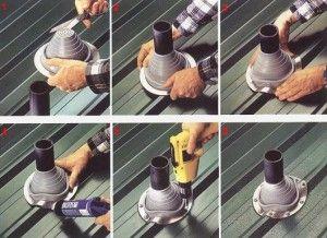 Как вывести дымовую трубу через скатную крышу