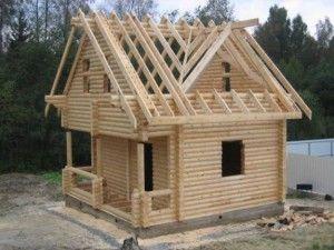 Будівництво даху для лазні