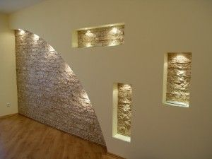 Гипсокартонные стены с нишами