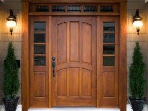 Элитные входные двери из дерева