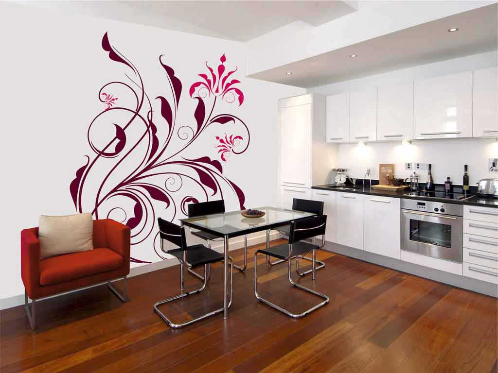 Рисунки на стену на кухне своими руками фото 83