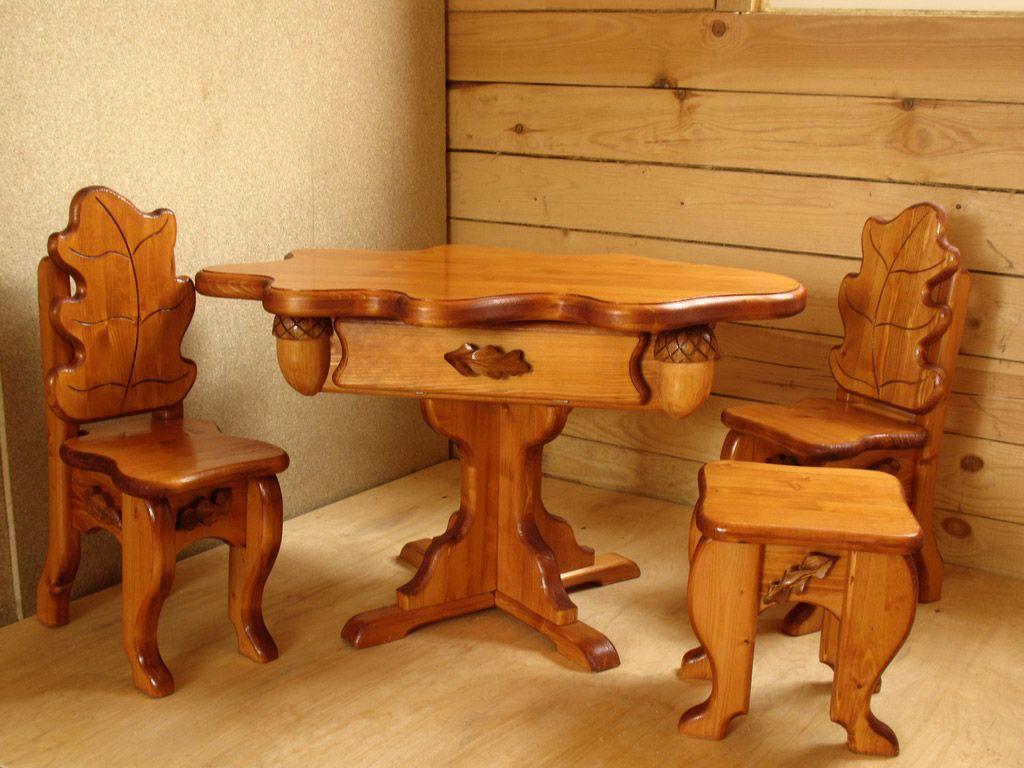 Мебель из дерева своими руками из дерева фото