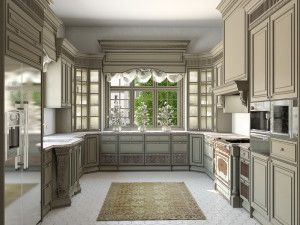 варианты расположения кухонной мебели