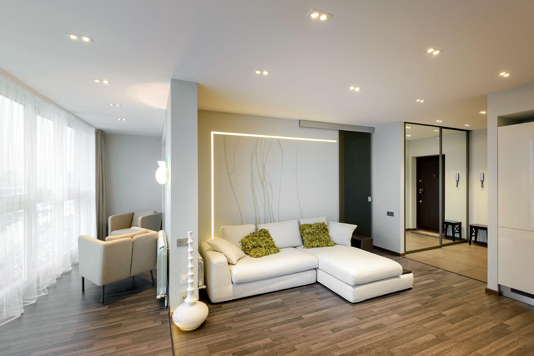 Дизайн-проект однокомнатной квартиры: 85 лучших реализаций.