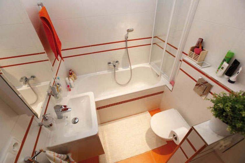 Отделка стандартной ванной комнаты плиткой фото дизайн
