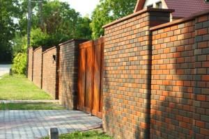 клинкерный забор