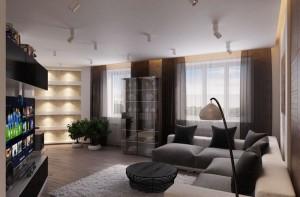 Дизайн интерьера квартиры для холостяка